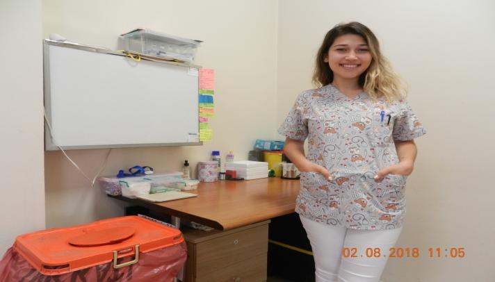 Tuğçe İMAMOĞLU<br>İşyeri Hemşiresi<br>DSP